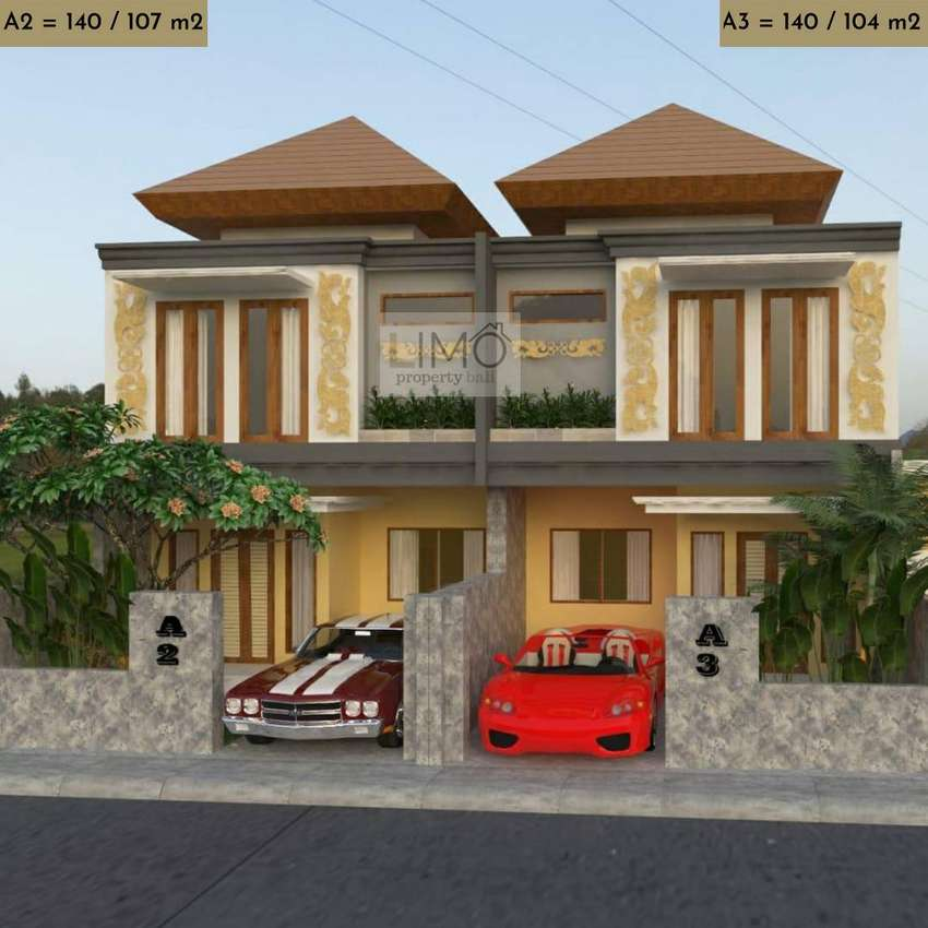 Rumah mewah di lingkungan elit Gatsu Timur dekat Sanur dan Ubud