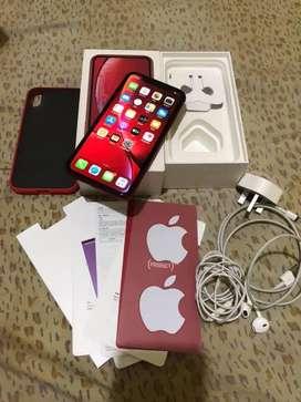 Iphone xr 64gb red garansi aktif