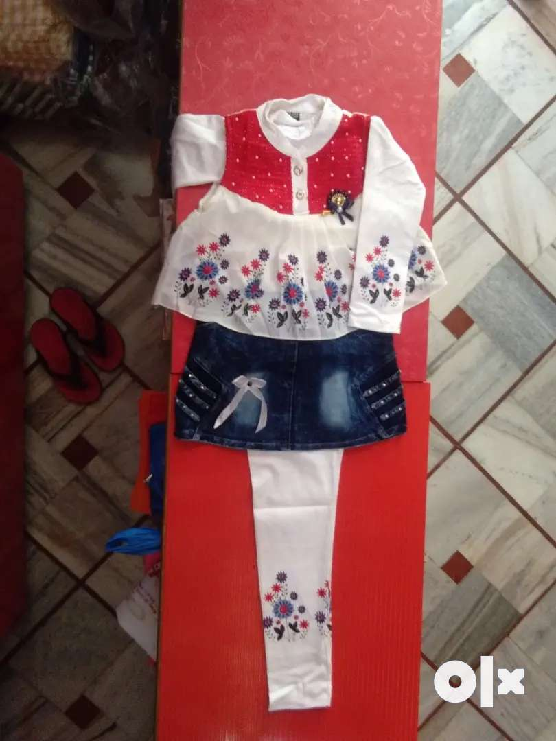 Girls dress+new born baby dress