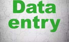 Data entry job.