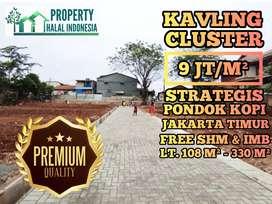 Kavling Cluster Pondok Kopi Jakarta Timur Free SHM IMB AKAD DI NOTARIS