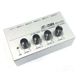 Ultra-Compact Headphone Amplifier Audio Stereo 4 Channel-HA400