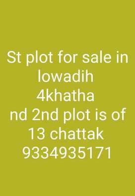 St plot for sale in lowadih ranchi