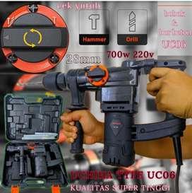 promo mesin bor hammer drill bobok beton UCHIHA Type UC 06 full bonus.
