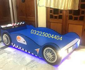 Racing car shape bed with lights72 inches x 36 inches