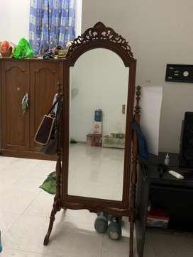 Kaca cermin kayu jati jepara