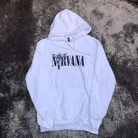 Hoodie HnM Nirvana White Hoodie