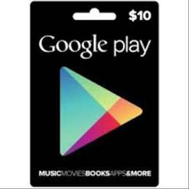 Google Play Store $10 Gift Card