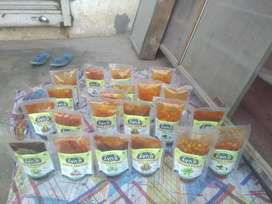 Pickle rs.30 for 200gm,rs.75 for 500mg