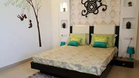3bhk Fully furnished well maintained both side open flat available .
