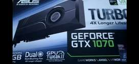 Asus GTX 1070 Turbo OC 8GB VRam Graphics card 4k and 1080p gaming card