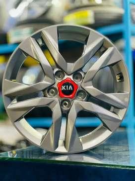17inches Kia Seltos HTX model Gunmetal Grey OEM Alloys set of 4