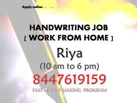 work from home HANDWRITING WORK  ENGLISH (CAPITAL LETTER)