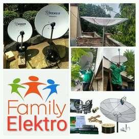 Toko Parabola digital bebas iuran l Family Elektro