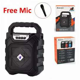 Speaker Bluetooth Portable Tenteng Jertech X1 Gratis Mikrofon Karaoke