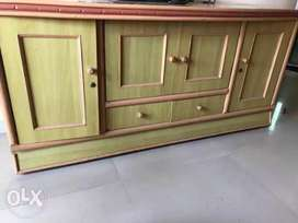 TV unit with cabinet storrage