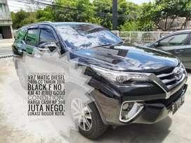 Toyota New Fortuner VRZ Automatic Diesel 2400 CC Tahun 2016 Hitam F No