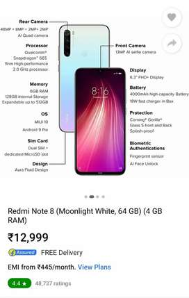 Redmi note 8  64Gb White
