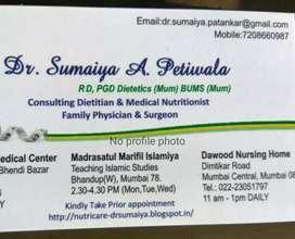 DrSumaiya's NutriCare Clinic Diet Management Dietitian Nutritionist