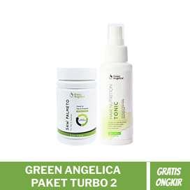 Green Angelica Paket Turbo 2 Penumbuh Rambut Botakk dan Rontok