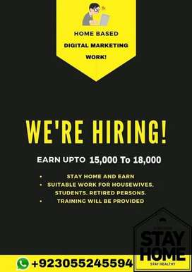 Get Work from home By working in digital marketing