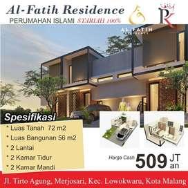 Rumah dijual di 'Al – Fatih Residence' Malang Kota