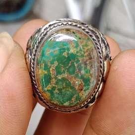 Natural Batu Pirus Persia Hijau Serat Emas