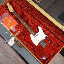 BRAND NEW FENDER JAPAN HYBRID QUILT FSR '60S TELECASTER TRANS RED