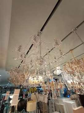 KREDIT PENDANT LAMP BASILANO 8L CHROME GLASS