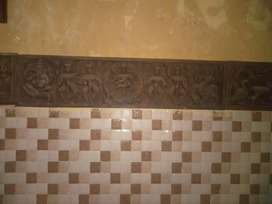 Antique wooden art pictures with carvings