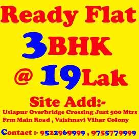 3BHK Flat Ready Re-Sale Just 600 Mtrs Frm Main Road Uslapur Bridge