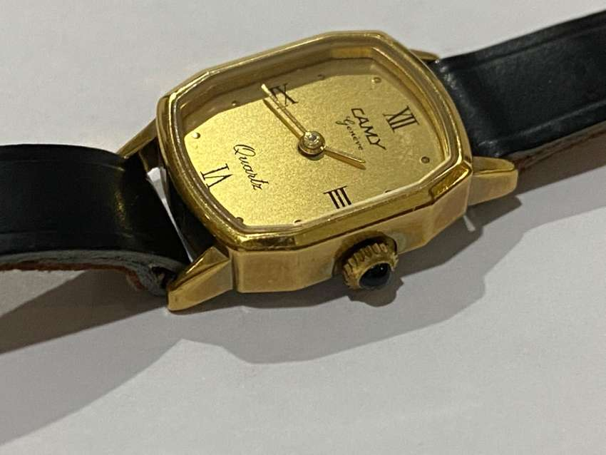 NEW OLD STOCK,1980's,CAMY GENEVE GOLD PLATED LADIES WATCH,