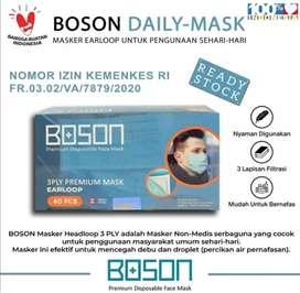 Masker Cantol Premium 3ply Boson isi 40 warna hijau