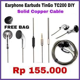 Earphone Tingo TC 200 DIY FREE BAG / POUCH