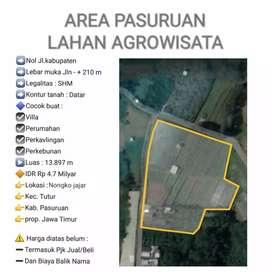 Dijual tanah agrowisata di daerah Nongkojajar, Kabupaten Pasuruan