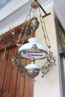 Lampu Gantung Dinding klasik Jawa - Dekorasi Hiasan Rumah Cafe Hotel