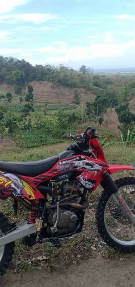 Trail trabas mesin Tiger body KLX