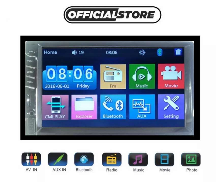 7 inch touch screen LCD for all cars car pre woofer speaker 0