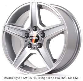 velg racing ROSTOCK STYLE 6 AM105 HSR R16X75 H5X112 ET35 GMF