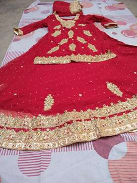 Red color lehnga for sale