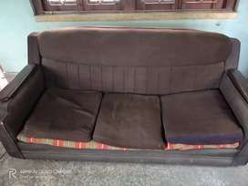 Sofa and dining table with one chair