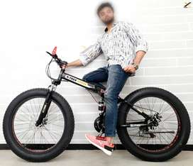 X-Trex Fat Tyre Foldable Cycle with 21 Speed Gears: Mountain Bike 26T