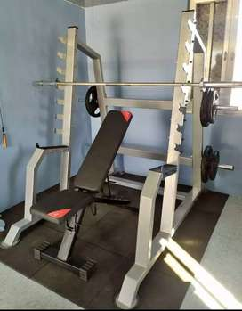 HEAVY DUTY BENCH PRESS AND SQUAT STAND