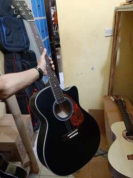 Gitar Akustik Black Doff With PikGuard