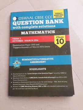 Oswaal question bank maths and science