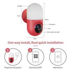 CCTV PTZ IP CAMERA YOOSEE FULL HD KAPSUL 1080P INDOOR LAMP INFRARED