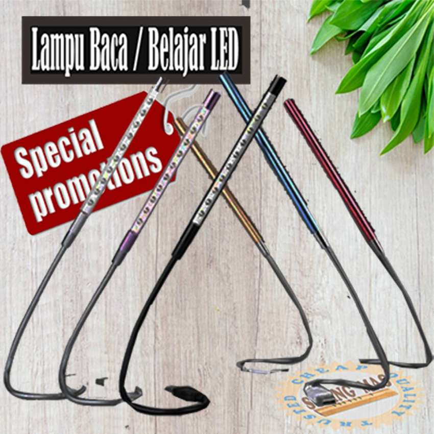 Lampu Belajar / Lampu Laptop USB Metal Flexible 10 LED 0