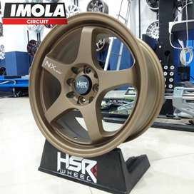 Velg mobil racing murah ring 16 HSR wheel baut 4x100 & 4x114,3 Bronze