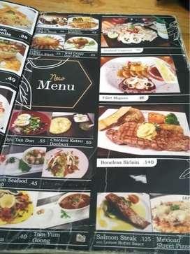 Print Cetak buku menu sticker spanduk banner mmt kaos Kaca film Solo