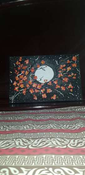 Flowers in the moonlight painting for sale